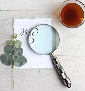 storeindya Thanksgiving gifts Ideas Vintage Magnifying Glass – Handheld Magnifier for Reading Inspection Crossword Puzzles Maps