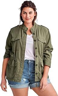 Women's Plus Size Drapey Military Jacket