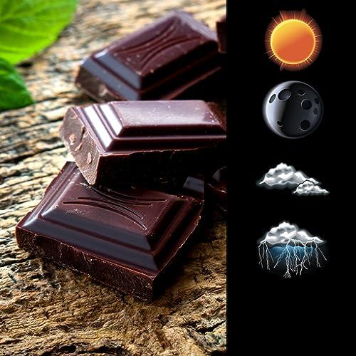 Schokoladen-Uhr und Wetter