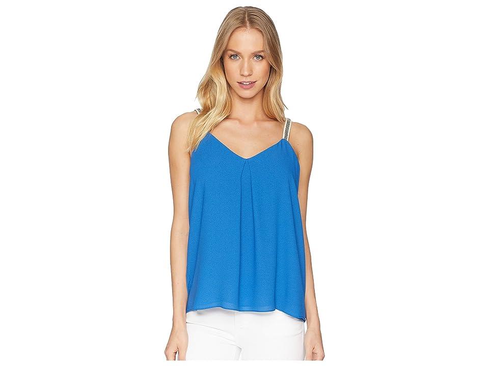 1.STATE Embroidered Strap Camisole (Zen Blue) Women