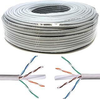 Mr. Tronic 100m Cable de Instalación Red Ethernet Bobina | CAT6, AWG24, CCA, UTP (100 Metros, Gris)