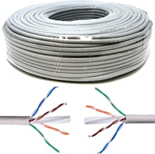 Mr. Tronic 200m Cable de Instalación Red Ethernet Bobina | CAT6, AWG24, CCA, UTP (200 Metros, Gris)