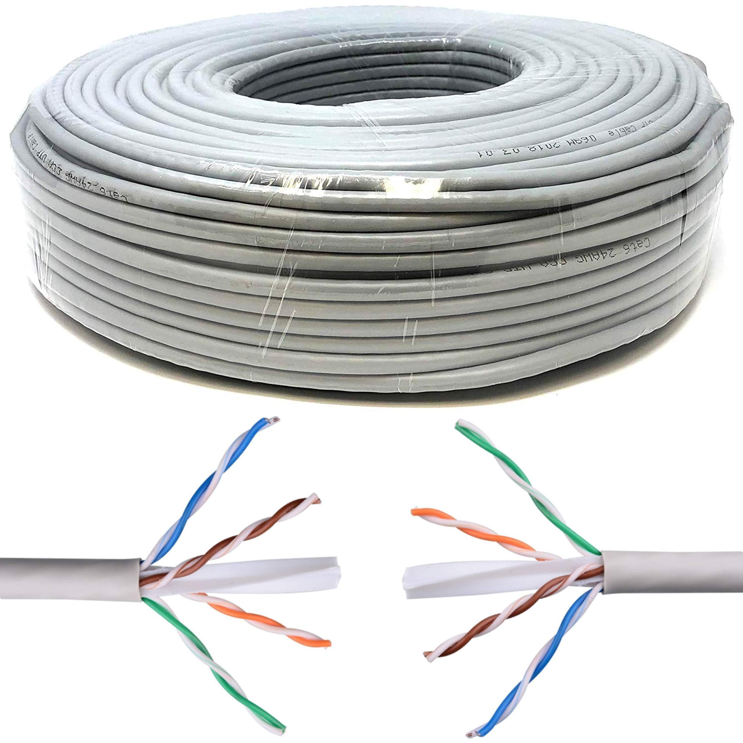 50M CAT6 ETHERNET Pure Copper Cable Reel//Drum GIGABIT UTP Network LAN RJ45