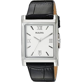 Bulova Men's 96B107 Strap Silver Dial Watch