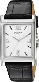 Bulova Men's 96B107 Strap Silver Dial Watch