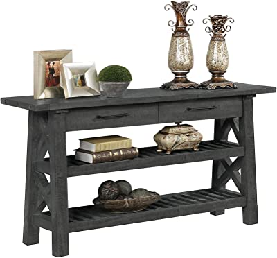 Best Quality Furniture Console Table, Rustic Gray