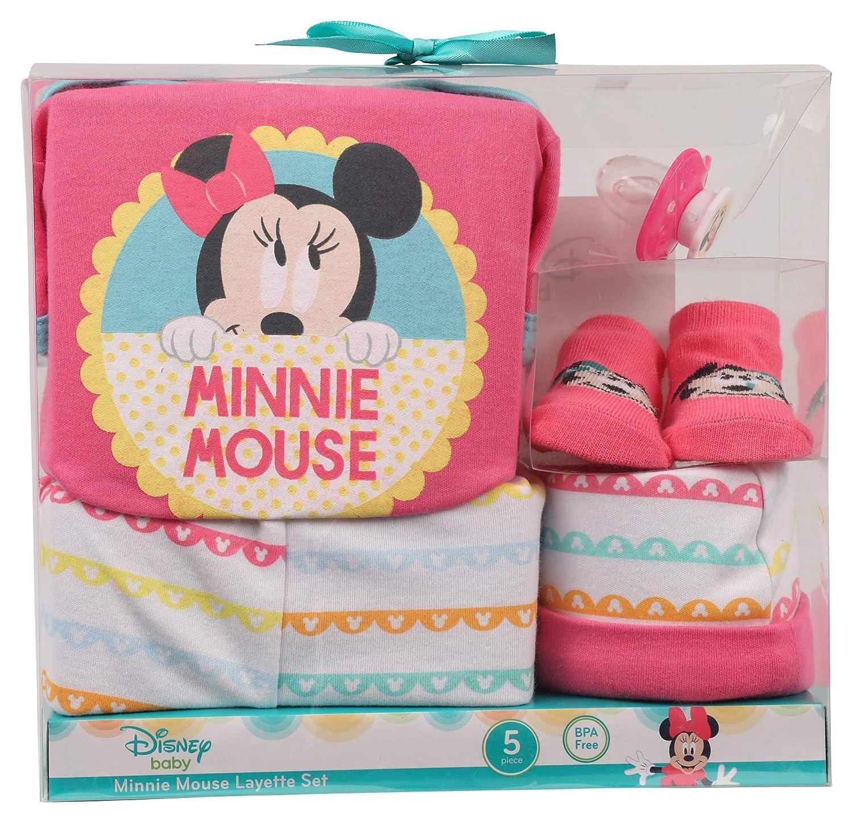 Disney Minnie Mouse 5 Piece Layette Set, 0-3 Months, Pink