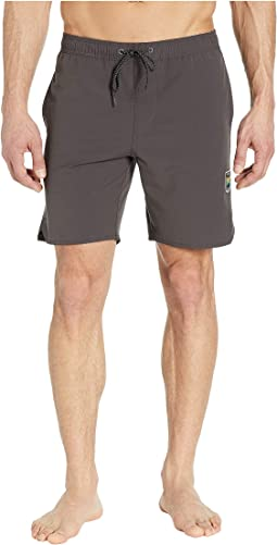 "17.5"" Solid Sets Elastic Swim Shorts"