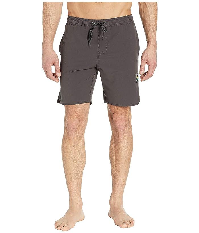 VISSLA 17.5 Solid Sets Elastic Swim Shorts (Phantom) Men
