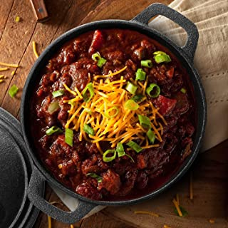 Cast Iron 3.4 Quart Cuisine Dutch Oven Set with Dome Lid and Handles for Outdoor and Indoor Cooking by Commercial Chef