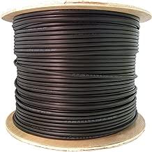 GadKo 6 Fiber Indoor/Outdoor Fiber Optic Cable, Multimode, 50/125, OM2, Black, Riser Rated, Spool, 1000 Foot