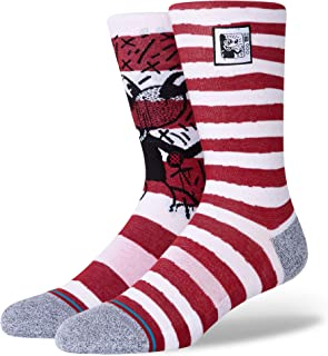 Stance Socks, STANCE Mickey TV Haring Mix Crew Calcetines para hombre, color rojo (mediano)