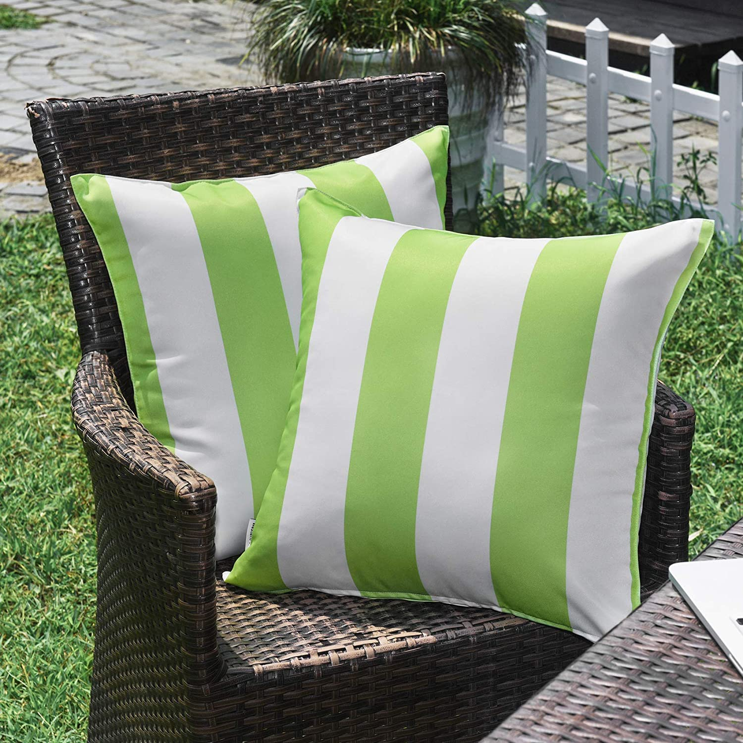 WESTERN HOME WH Sales Outdoor Pillow 18x18 Stripe Covers S Direct store Waterproof