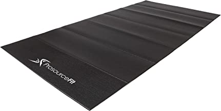 "ProSource Treadmill & Exercise Equipment Mats, Folding (7'L x 3'W x ¼""T) Designs, High Density PVC Floor Protector"