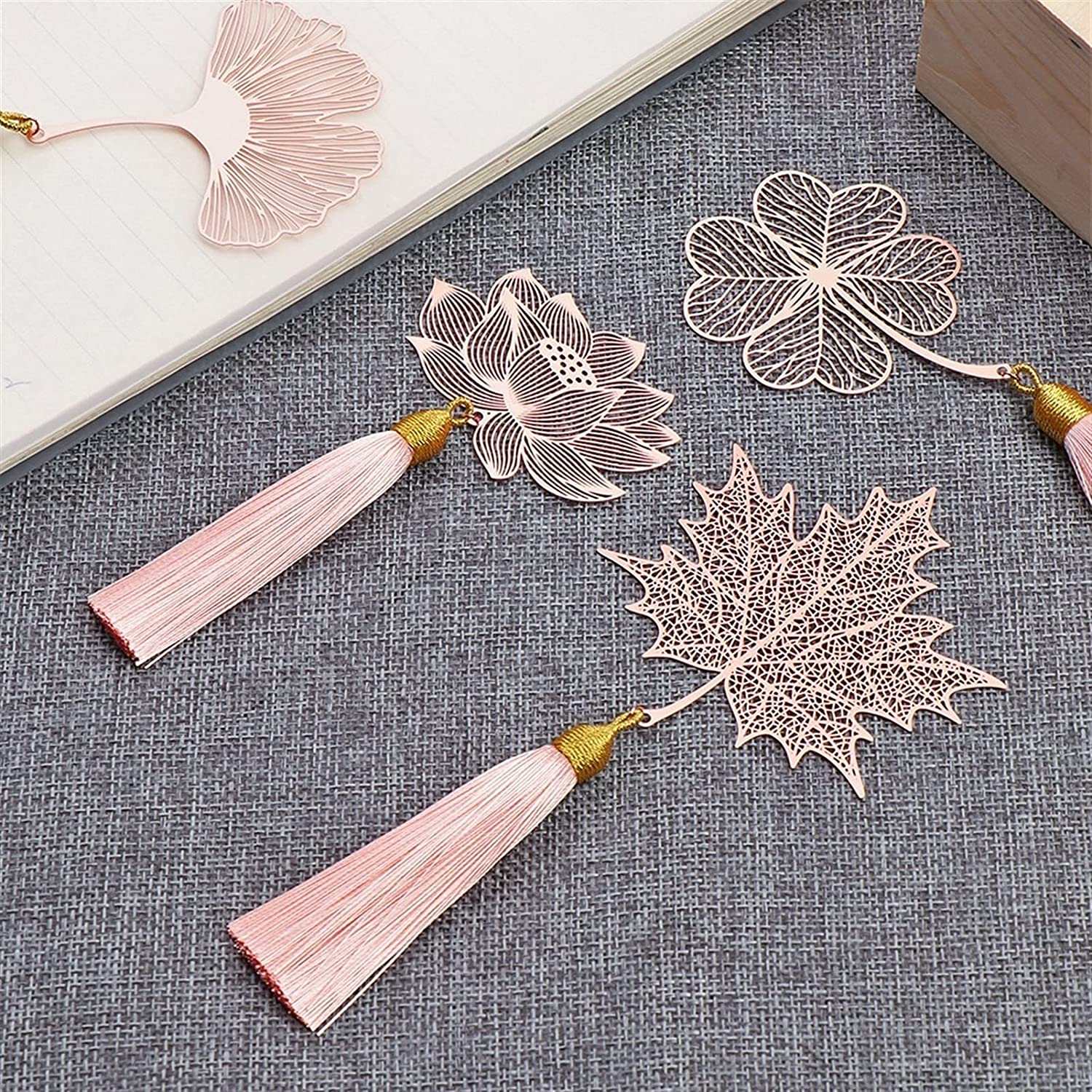 WZRY Chinese Bookmarks Style Super sale security Creative Maple Hollow Le Leaf Vein