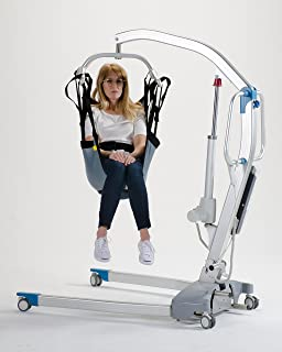 Patient Aid One Piece Commode Patient Lift Sling with Positioning Strap, Full Body 600lb Capacity (Medium)