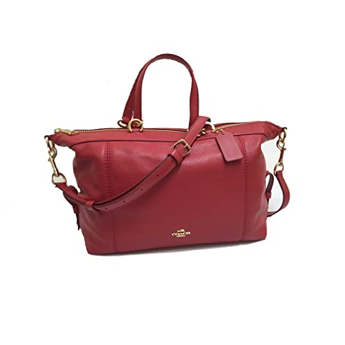 64d70007080a Coach Pebble Leather Lenox Satchel Handbag Shoulder Bag