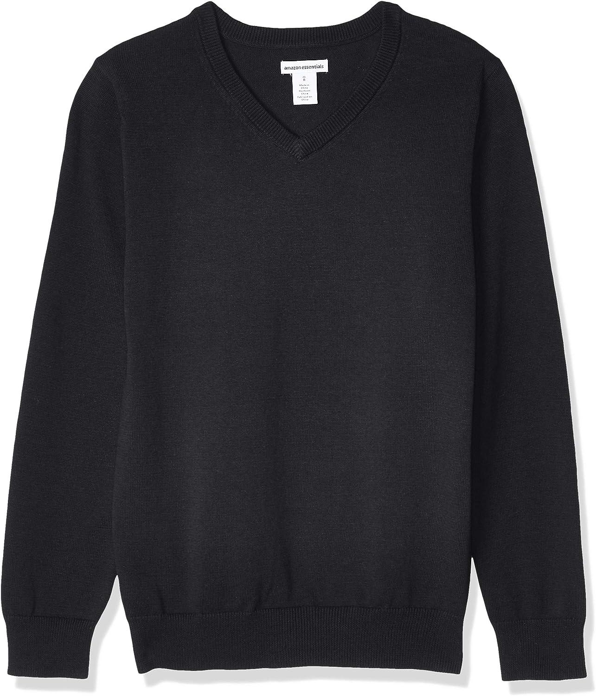Amazon Essentials Boys' Uniform Cotton V-Neck Sweaters