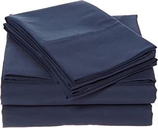 ienjoy Home 4 Piece Ultra Soft Deluxe Bed Sheet Set, King, Navy