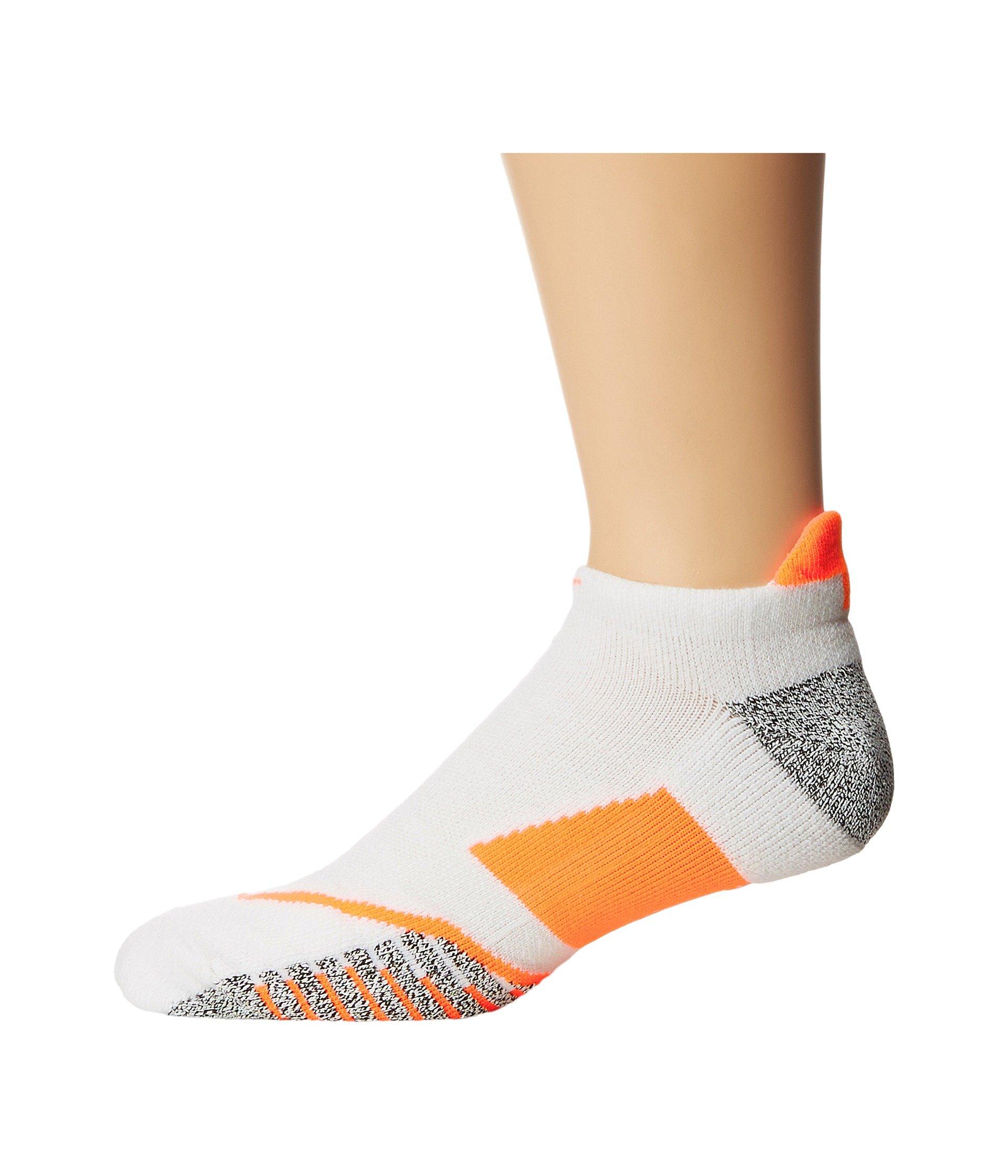 183b85b683fbe Nikegrip Elite No Show Tennis Socks, White/Hyper Orange/Hyper Orange