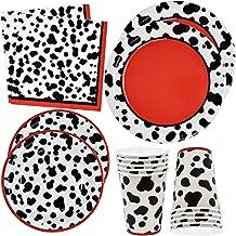 "Dalmatians Party Supplies Set 24 9"" Plates 24 7"" Plate 24 9 Oz Cups 50 Luncheon Napkins Dalmation Dog Animal Puppy Paw Bir..."