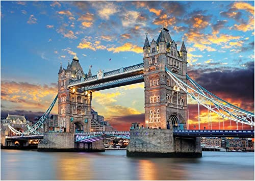 popular Jigsaw Puzzles new arrival for Adults Jigsaw Puzzles 1000 Pieces for Adults Educational Games High Definition Printing Ideal for Relaxation, Hobby Gifts for Boys Adults Teens outlet online sale 1000 Pieces Tower Bridge online sale