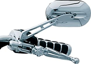 Kuryakyn 1412 Motorcycle Handlebar Accessory: Magnum Plus Large Head Rear View Side Mirror with Flat Glass for 2004-19 Harley-Davidson Motorcycles, Chrome, Pack of 1
