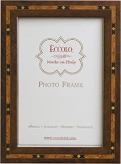 Eccolo Made In Italy Tan Zebra Striped Wood Frame Holds a 5 x 7-Inch Photo