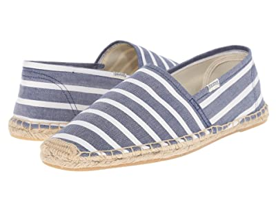 Soludos Original Stripe (Light Navy/White) Men