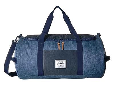 Herschel Supply Co. Sutton (Faded Denim/Indigo Denim) Duffel Bags