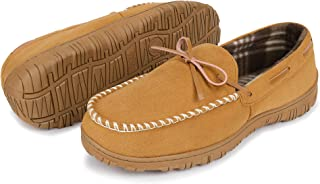 Mens Moccasin Slippers, Cozy Slippers for Men Casual...