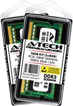 A-Tech 16GB Laptop RAM Kit - (2 x 8GB) DDR3 / DDR3L 1600 MHz PC3L-12800 2Rx8 1.35V Non ECC Unbuffered 204-Pin SODIMM Memory Upgrade