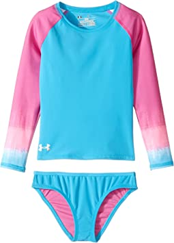 Ombre Long Sleeve Rashguard Set (Big Kids)