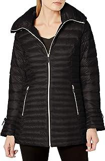 XL Laundry by Shelli Segal Soft Tech Quilt Hooded Coat Jacket Black