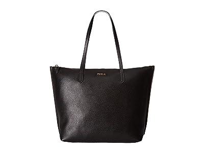Furla Luce Large Tote (Onyx) Tote Handbags