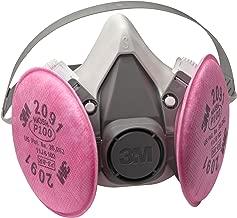 3M Half Facepiece Reusable Respirator Assembly 6191/07001(AAD), P100 Respiratory Protection, Small