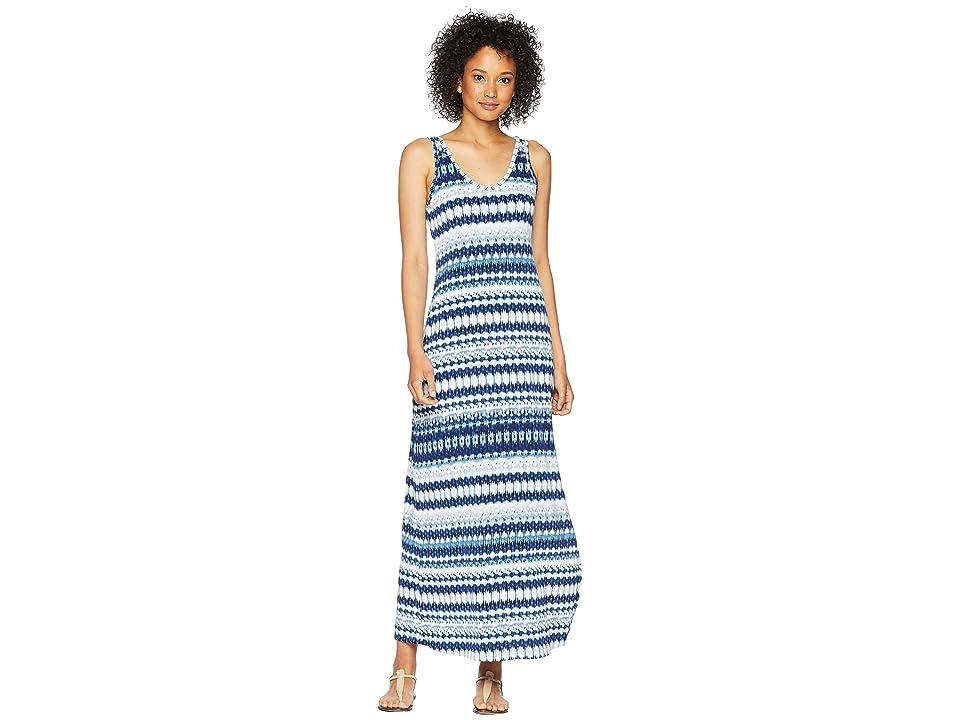 Karen Kane Side Slit Maxi Dress (Print) Women