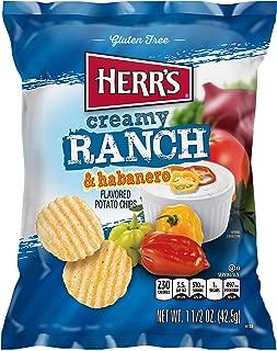 Herr Foods Creamy Ranch Habanero Potato Chips, 1.5 Ounce -- 30 per case.