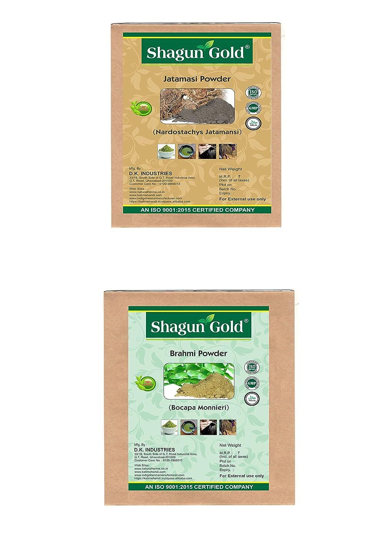天気マラウイより良いShagun Gold A 100% Natural ( Bacopa Monnieri )/( Nardostachys Jatamansi ) Brahmi Powder And Jatamasi Powder For Hair Certified By Gmp / Halal / ISO-9001-2015 No Ammonia, No PPD, Chemical Free 7 Oz / ( 1 / 2 lb ) / 200g