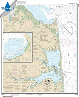 Paradise Cay Publications NOAA Chart 12216: Cape Henlopen to Indian River Inlet; Breakwater Harbor 37.7 x 30.9 (WATERPROOF)