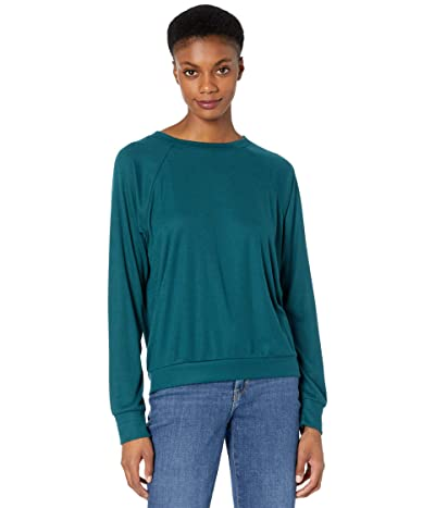 Eberjey Mina The Ringer Sweatshirt (Evergreen) Women