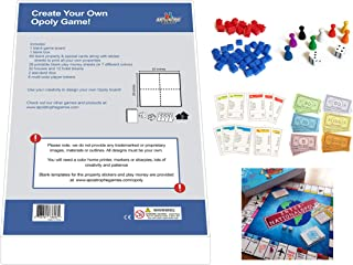 Create Your Own Opoly Game (Blank Game Board, Box & Opoly Accessories)