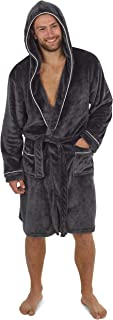 CityComfort Dressing Gowns for Men | Super Soft Luxury Hooded Dressing Gown in Grey or Navy | Men's Warm and Cozy Fleece N...