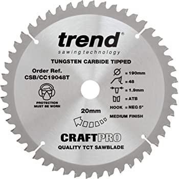 Trend Craft Pro saw blade 190mm diameter 20mm bore 60tooth FREE DELIVERY!