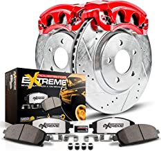 Power Stop KC2119-36 Z36 Truck & Tow Front Caliper Kit-Drilled/Slotted Brake Rotors, Carbon-Fiber Ceramic Brake Pads, Calipers