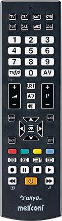 Meliconi FULLY 8 Telecomando Universale 8 in 1 per TV, Decoder, DVD/Blu Ray, Box Multimediali + IPTV + Xbox360 + PS2