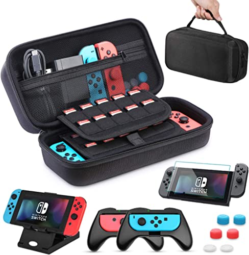 Nintendo Switch Case HEYSTOP Nintendo Switch Carry Case Pouch Switch Cover Case with 2 Joy-con Grips and PlayStand fo...