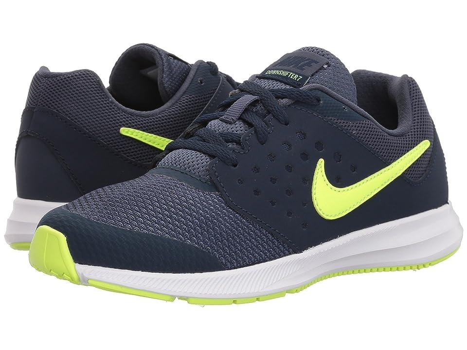 Nike Kids Downshifter 7 (Little Kid) (Thunder Blue/Volt Glow/Obsidian/Black) Boys Shoes