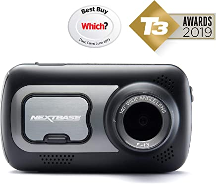 NEXTBASE 522GW Series 2 Car Dash Camera Full 1440p/30fps HD DVR Cam 140° Wide Viewing Angle WiFi and Bluetooth Alexa Compatible GPS Polarising Filter Black