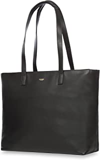 """Knomo Mayfair Luxe Maddox, 15"""" Leather Laptop Tote Bag, Black"""